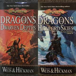 The Lost Chronicles Volume 1 and 2 by Margaret Weis & Tracy Hickman