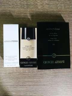 Giorgio Armani 彩妝套裝(隔離霜+粉底+護唇膏)