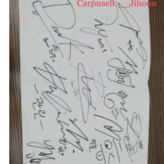 Wanna one sign (Want to bid/sell)