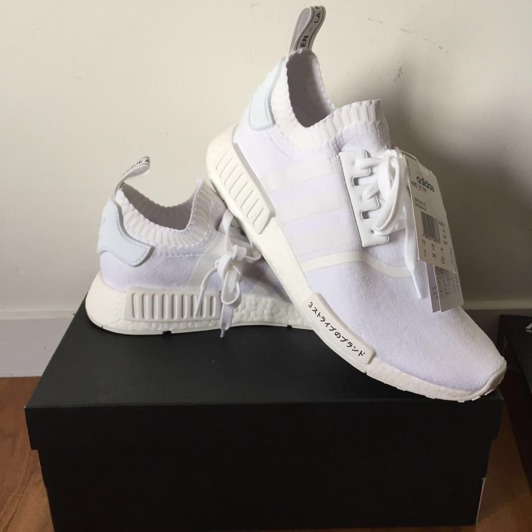 7b08c1c1a Adidas NMD R1 Triple White Japan on Carousell