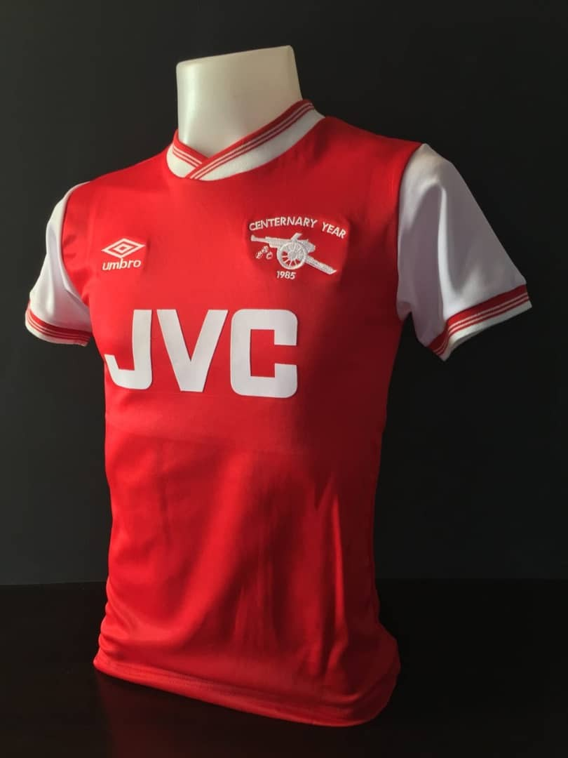 more photos 06431 18acb Arsenal Retro Home Kit 1985