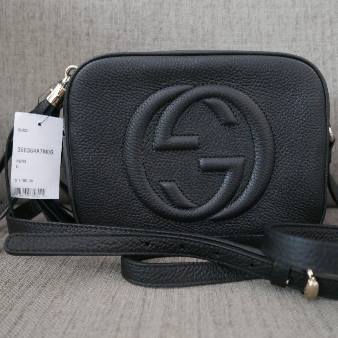a952d951bcd0 Authentic Gucci GG Soho Disco Bag Black, Luxury, Bags & Wallets on Carousell