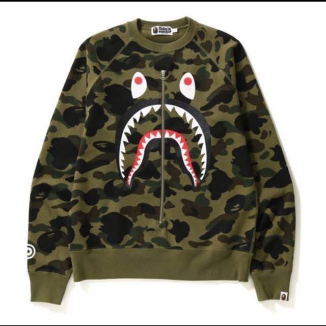 987744dbab3e Bape First Camo Shark Crewneck (M)