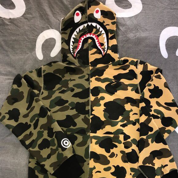 6fb4570d Bape Shark Hoodie ($450), Men's Fashion, Clothes, Outerwear on Carousell