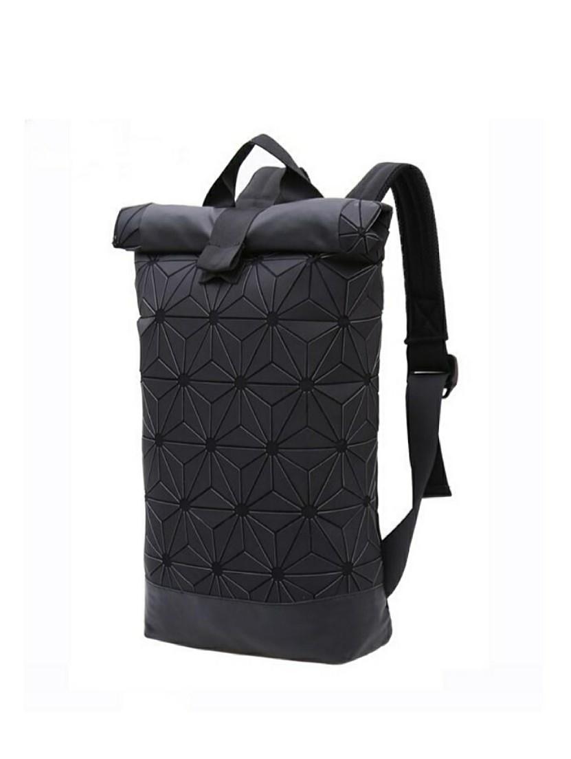 BRAND NEW Matte Black Mesh Adidas x Issey Miyake BAOBAO Inspired Geometric  Rhombic Roll Up Top Rucksack Backpack   School Bag   Diaper Bag e35d9b2b0250e