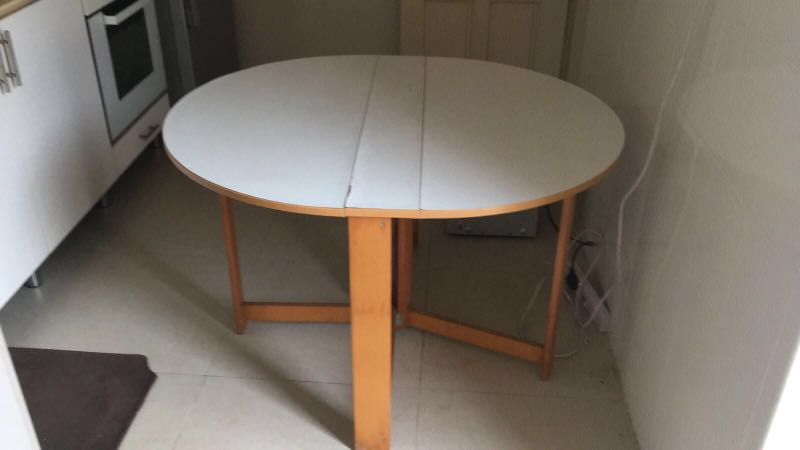 Foldable Round Kitchen It Dining Table Furniture Tables