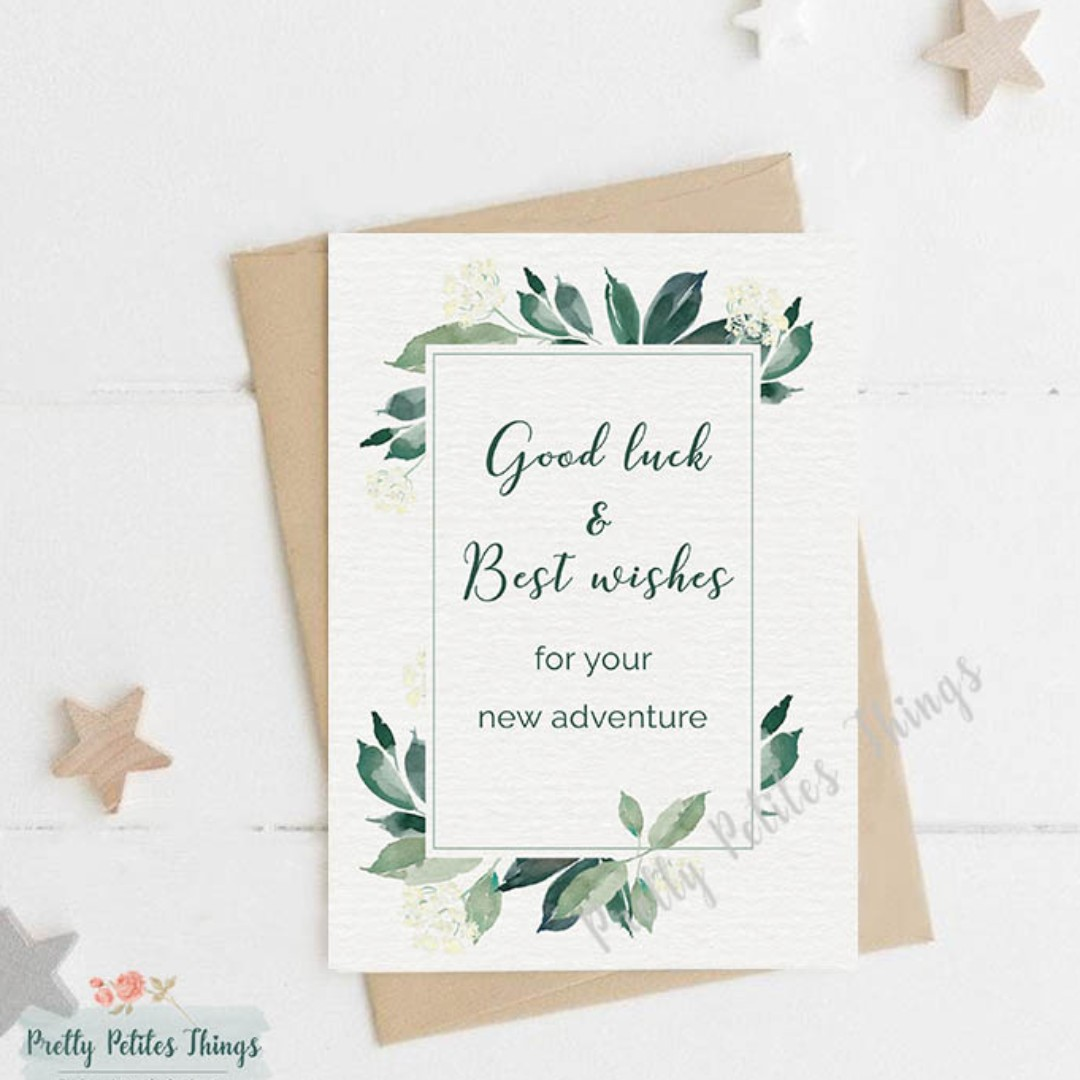 handcrafted farewell card  good luck and best wishes for