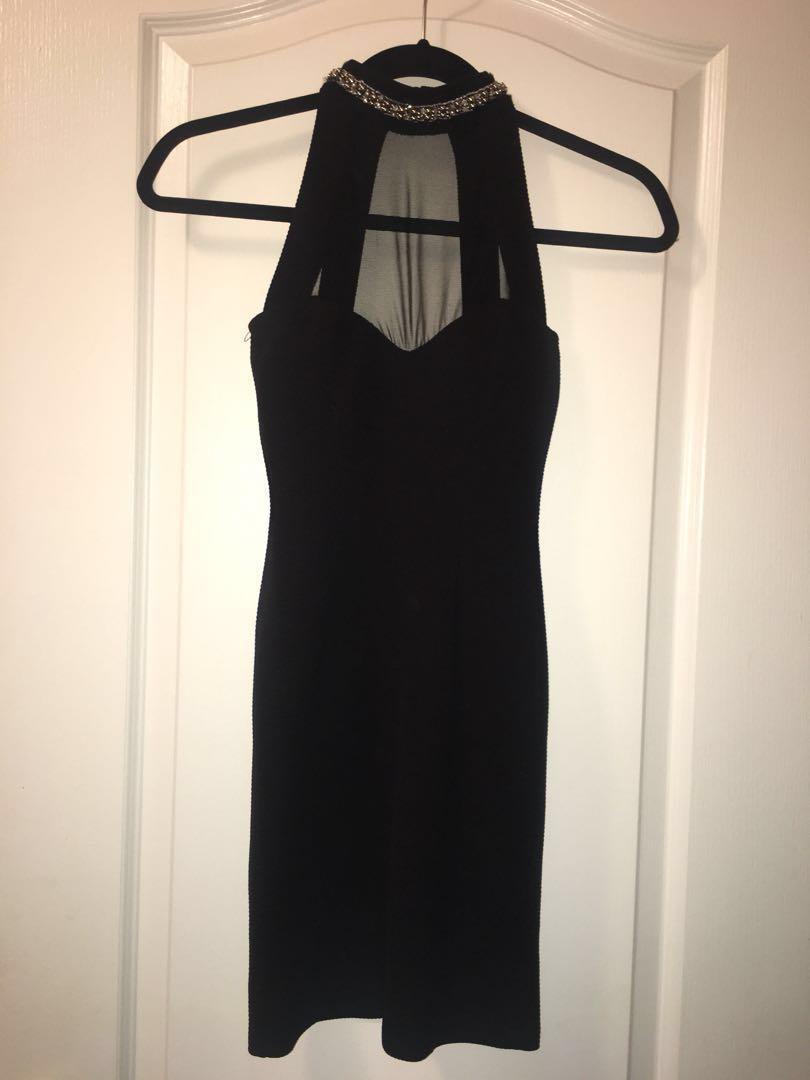 High neck guess dress
