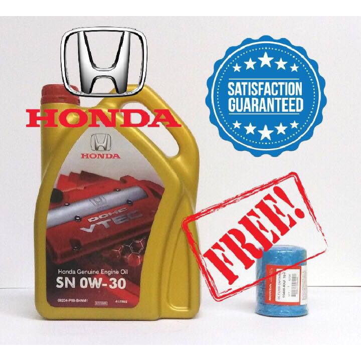 Honda Fully Synthetic Sn 0 30w Engine Oil Free Honda Original Oil