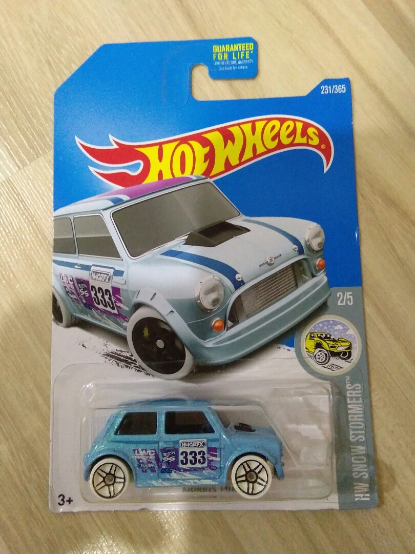 Hot Wheels Morris Mini Cooper Toys Games Diecast Toy Vehicles