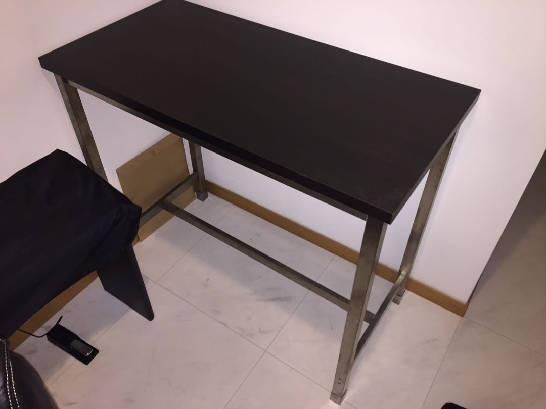 Ikea utby bar table images bar height dining table set ikea bar table utby black and steel with feet covers furniture watchthetrailerfo