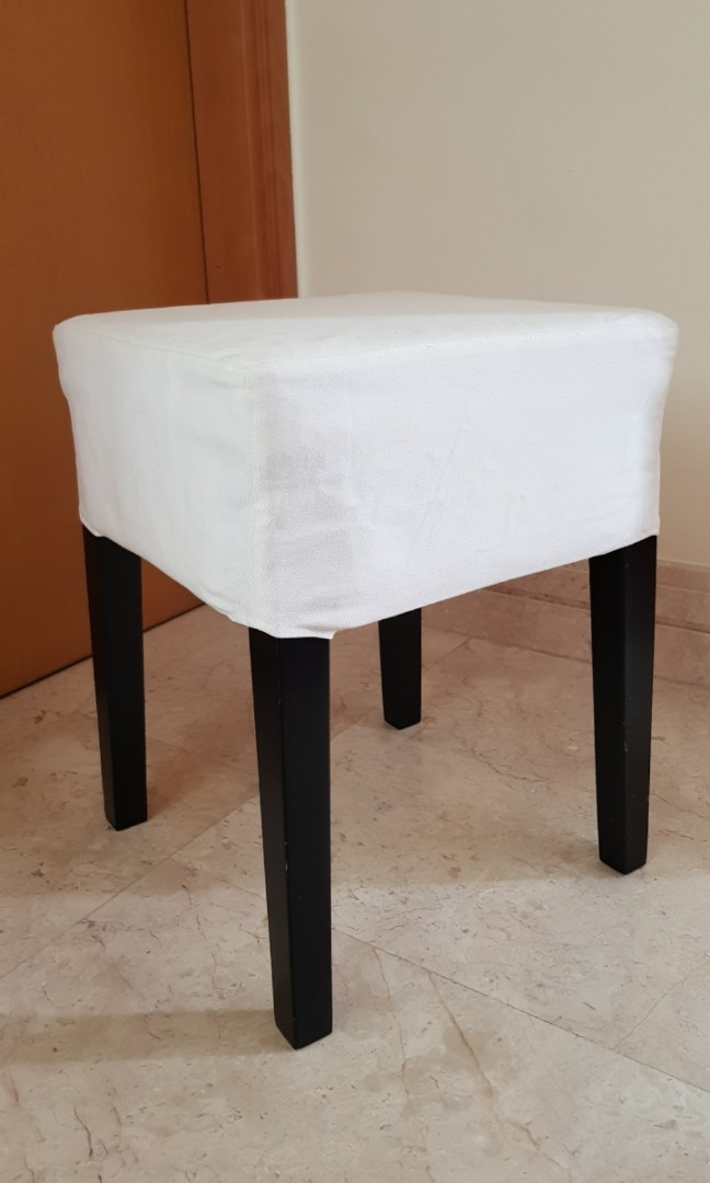 Ikea Dressing Table Chair With White Cover Furniture Tables Chairs On Carousell