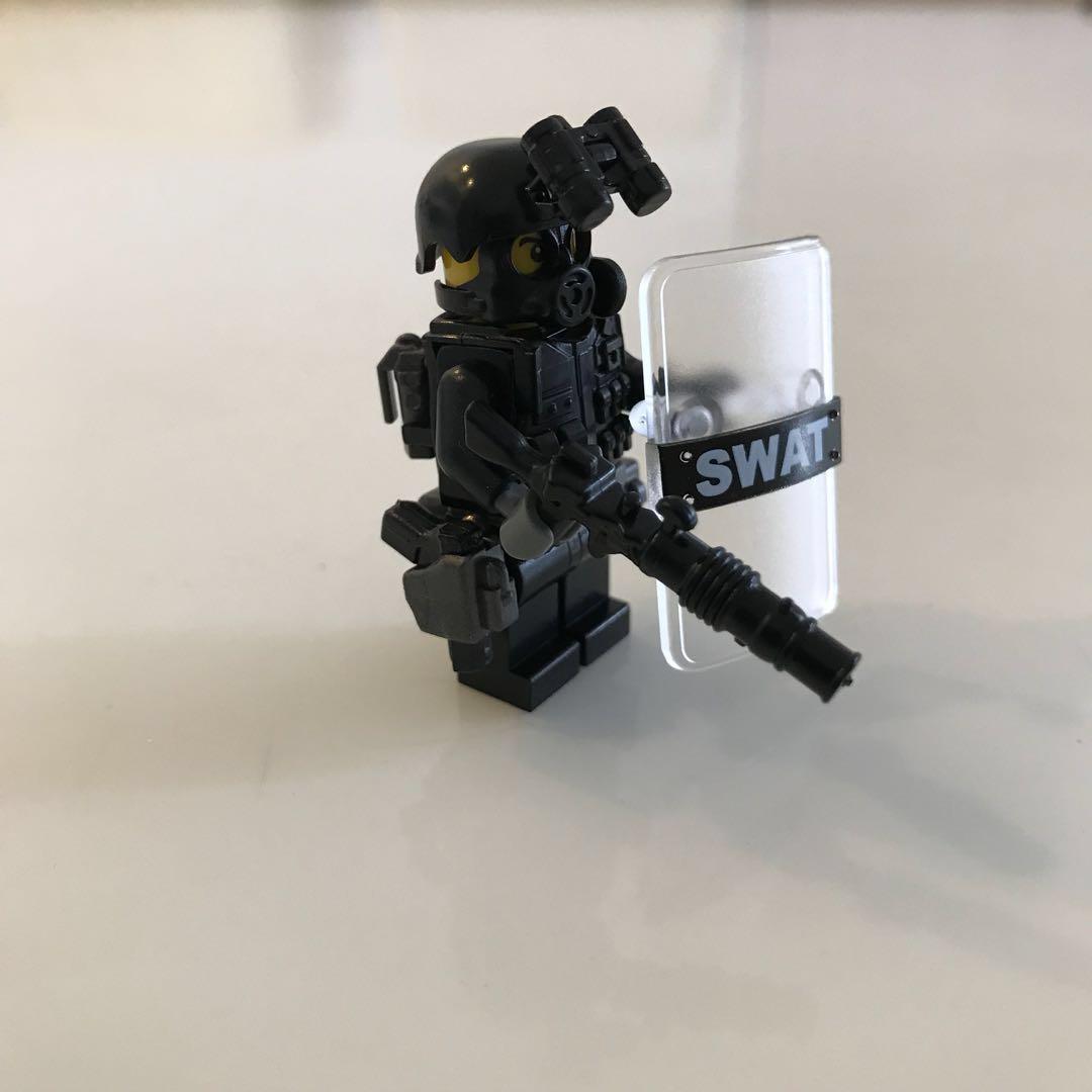 Lego Swat 12 Police Team Minifigurine Custom Made Toys Games