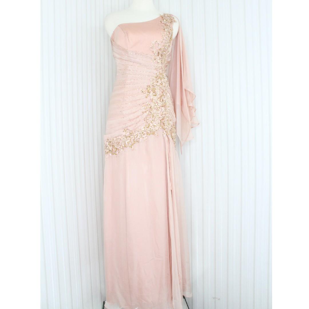 long dress evening gowngaun pesta warna salem gold kode 6544 1527229360 9a3dfb110