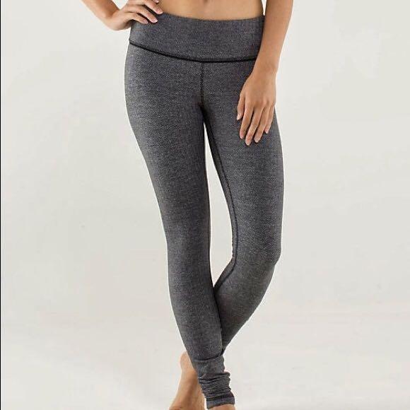599be238fbf35 Lululemon Dark Grey Leggings, Women's Fashion, Clothes on Carousell