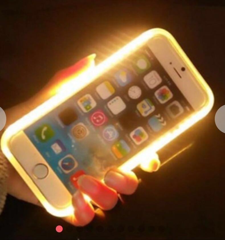 best service 12f20 eb8a7 Lumee Lights up your face selfie phone case for 6/6P/7/7P