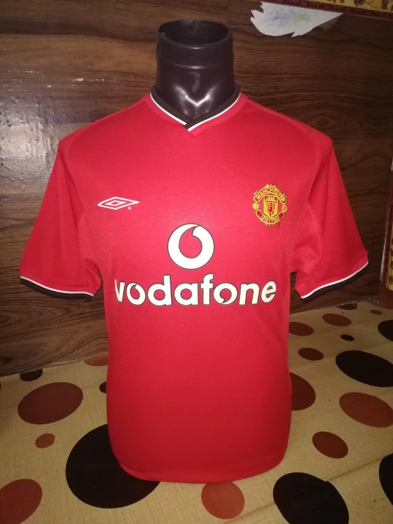 buy online d3768 f3ed3 Manchester united original home kit 2000-2002