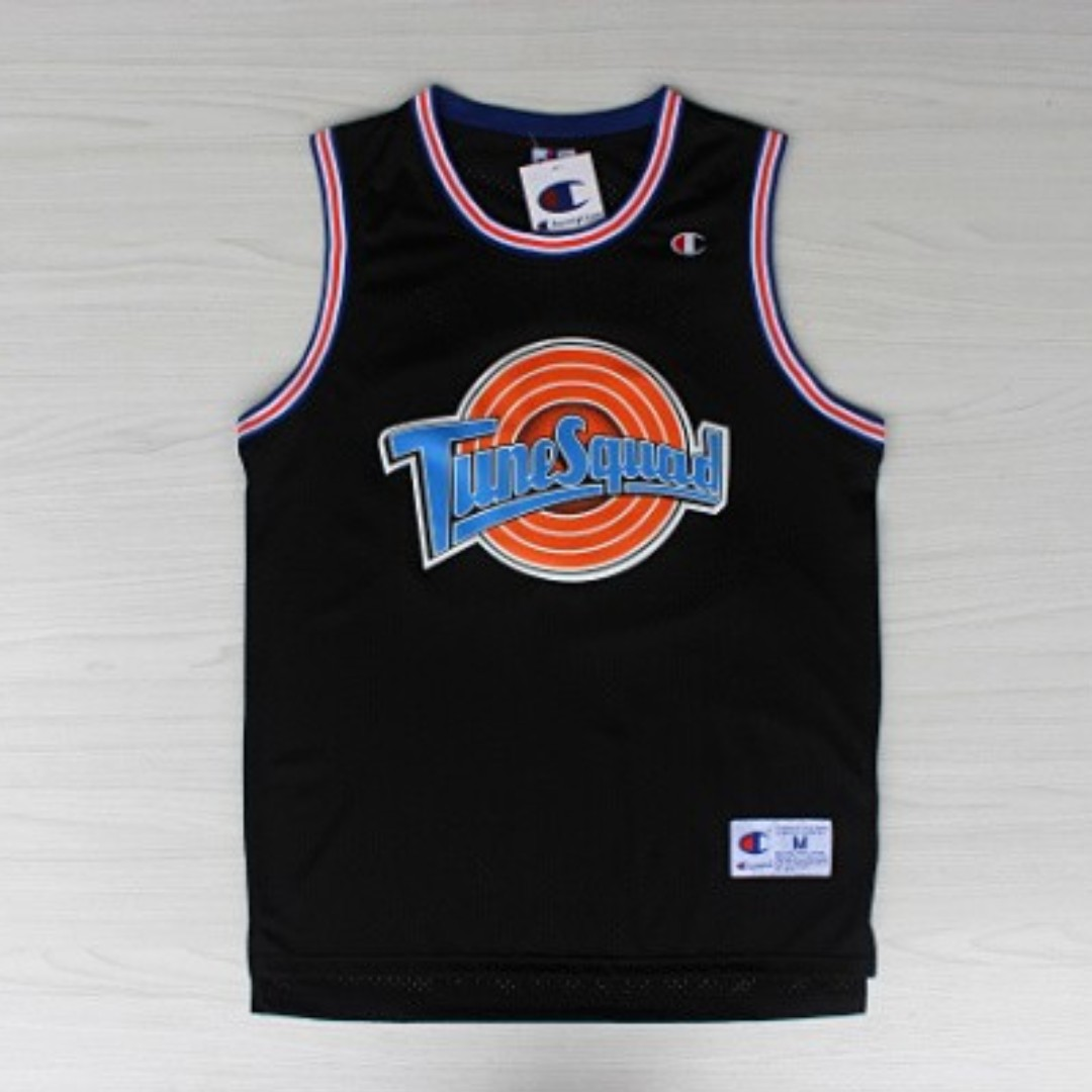 official photos e59b3 2afa9 Newest Champion Michael Jordan Tunesquad Space Jam Jersey (Black) + Free  Postage for First 8 Sold! (PRE ORDER)