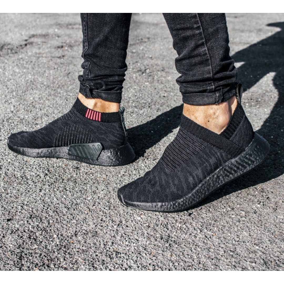 PO) Adidas Mens NMD CS2 PK City Sock Triple Black, Men's