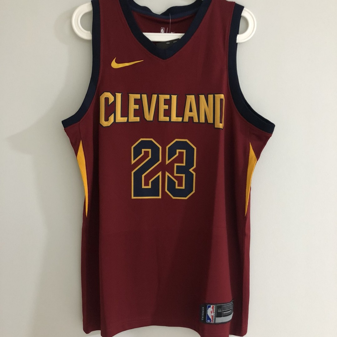 big sale 7ff1a 2c63e S) Cleveland Cavaliers #23 King James Nike Jersey Maroon ...