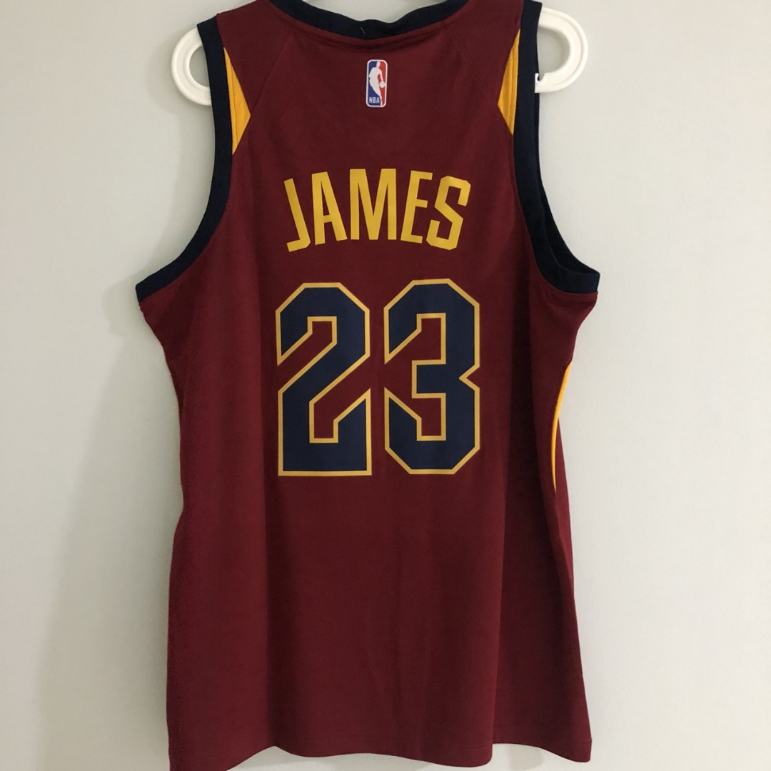 big sale 1c39a 1a406 S) Cleveland Cavaliers #23 King James Nike Jersey Maroon ...