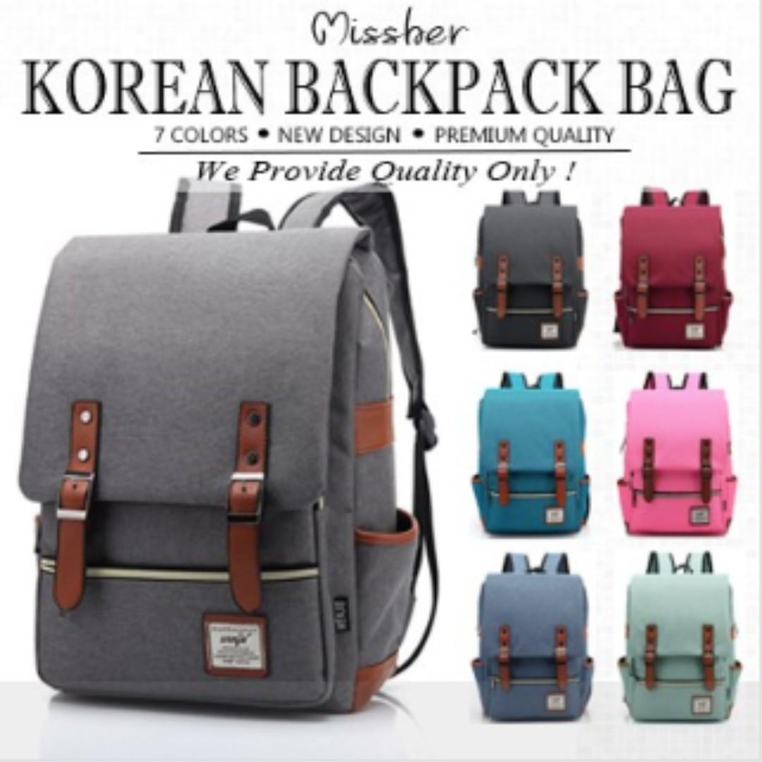 db173ba8aa6f ☆Unisex Korean Version Shoulder Backpack School Bag Unisex Men ...