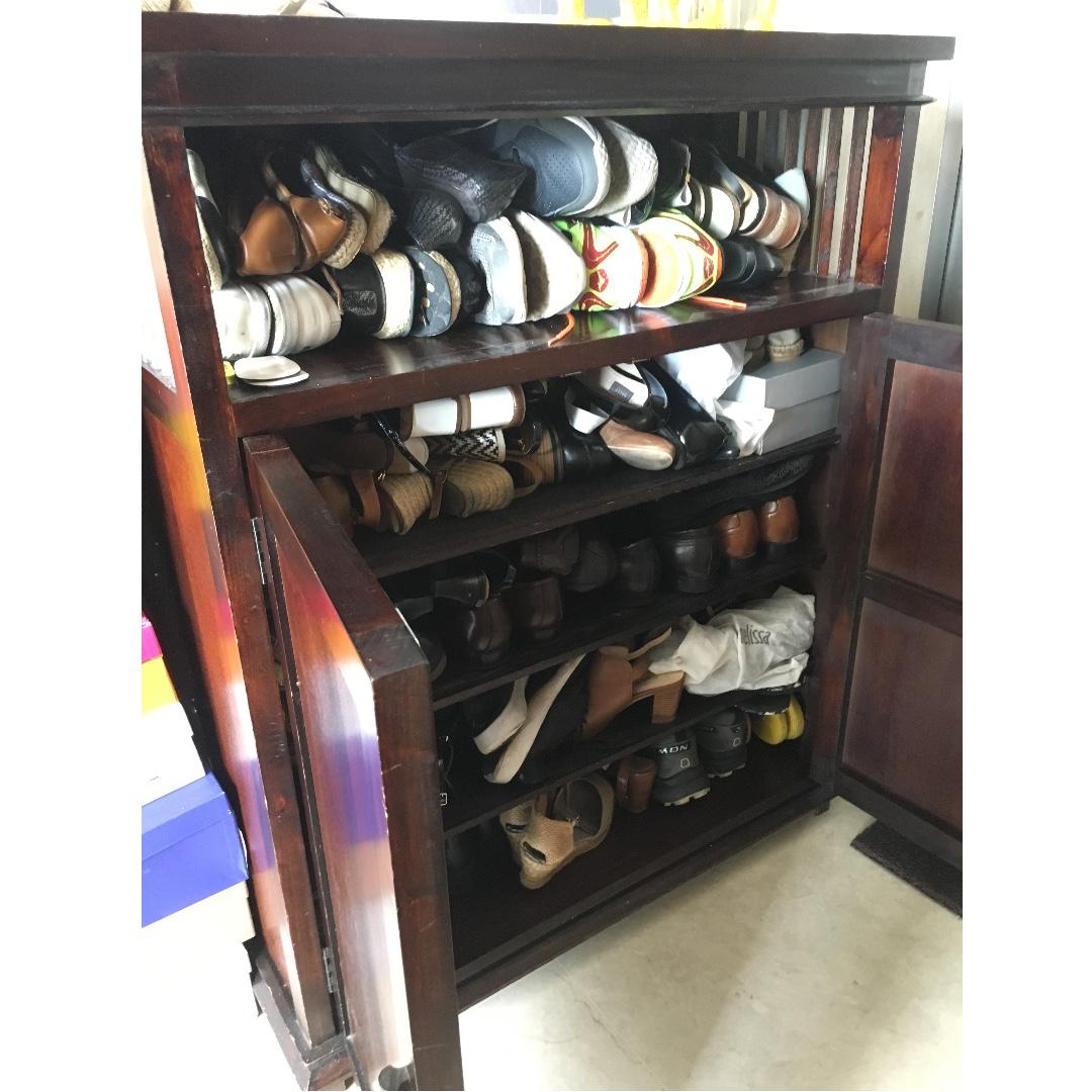Vintage Tropical Shoe Rack Display Cabinet Bookshelf Furniture Shelves Drawers On Carousell