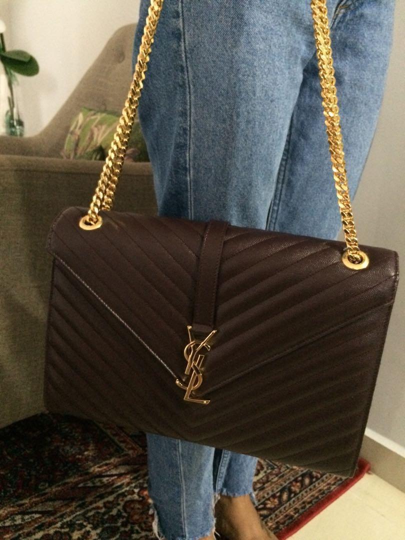 e7e6a2e975f YSL(Saint Laurent ) Large envelope bag, Luxury, Bags & Wallets on ...