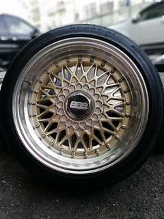 Bbs rs 16 inch sports rim persona tyre 70%.