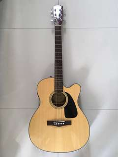 Fender Acoustic-Electric Guitar CF-60CE with Hardhsell Case and Accessories