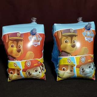 (Free normal postage) Nickelodeon Paw Patrol Inflatable Swimming Arm Band Float
