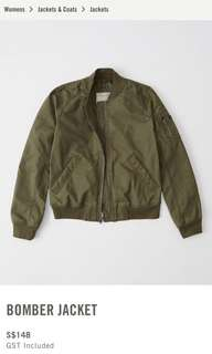Navy Abercrombie and Fitch Bomber Jacket