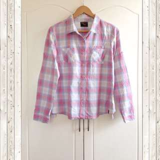 Red Girl Checkered Long sleeve