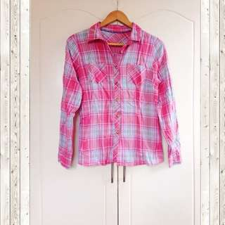 Pink checkered long sleeve