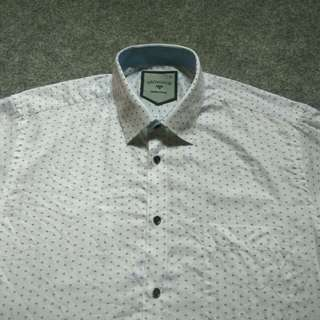 Kemeja PROVOGUE Printed Shirt Long Sleeve Size L