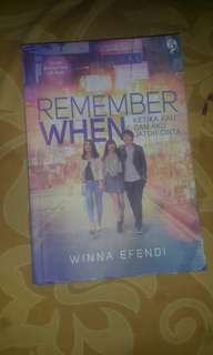 Novel remember when