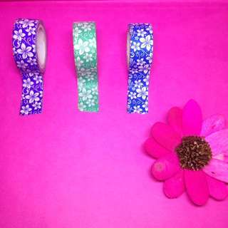 Colorful floral tape