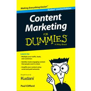 Content Marketing For Dummies (Kudani Limited Edition) eBook