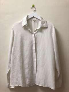 🚚 二手🌸白色雪紡袖口綁帶襯衫