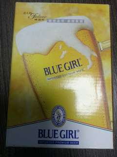 藍妹意大利製造玻璃啤酒杯 Blue Girl Italino Premium Beer Glass
