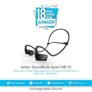 Anker Soundbuds sport NB10 bluetooth earbuds - black