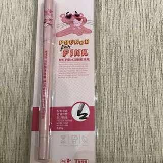 Miniso pink panther eyeliner pencil black