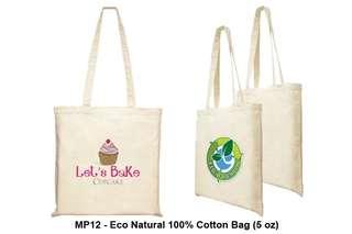 Wholesale Eco Natural 100% Cotton Bag (5oz)