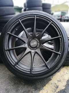 Oz racing formula HLT 18 inch sports rim volkswagen golf r tyre 70%. *jual mora mora jual*
