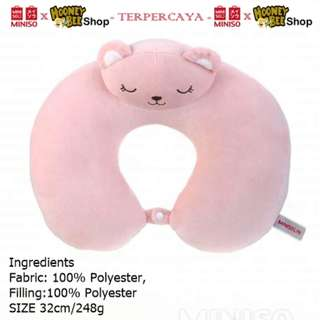 Japan Quality - bantal leher pink MINISO neck pillow