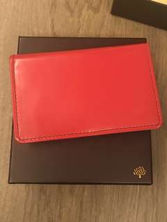 Mulberry Red Card Holder