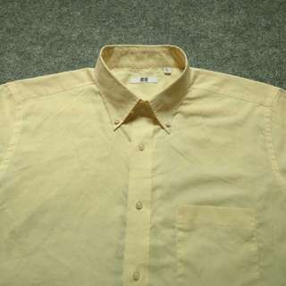 UNIQLO Button Down Checked Shirt Short Sleeve Size XL