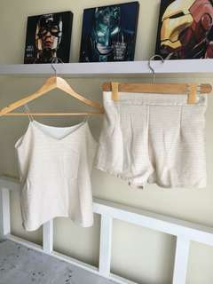Knitted Cami strap & shorts terno