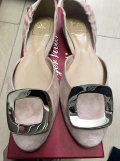 Brand NEW Authentic Roger Vivier Chips Suede Flat