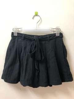 🚚 二手🌸黑色綁帶褲裙